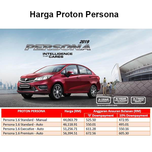 Harga Proton Persona 2020